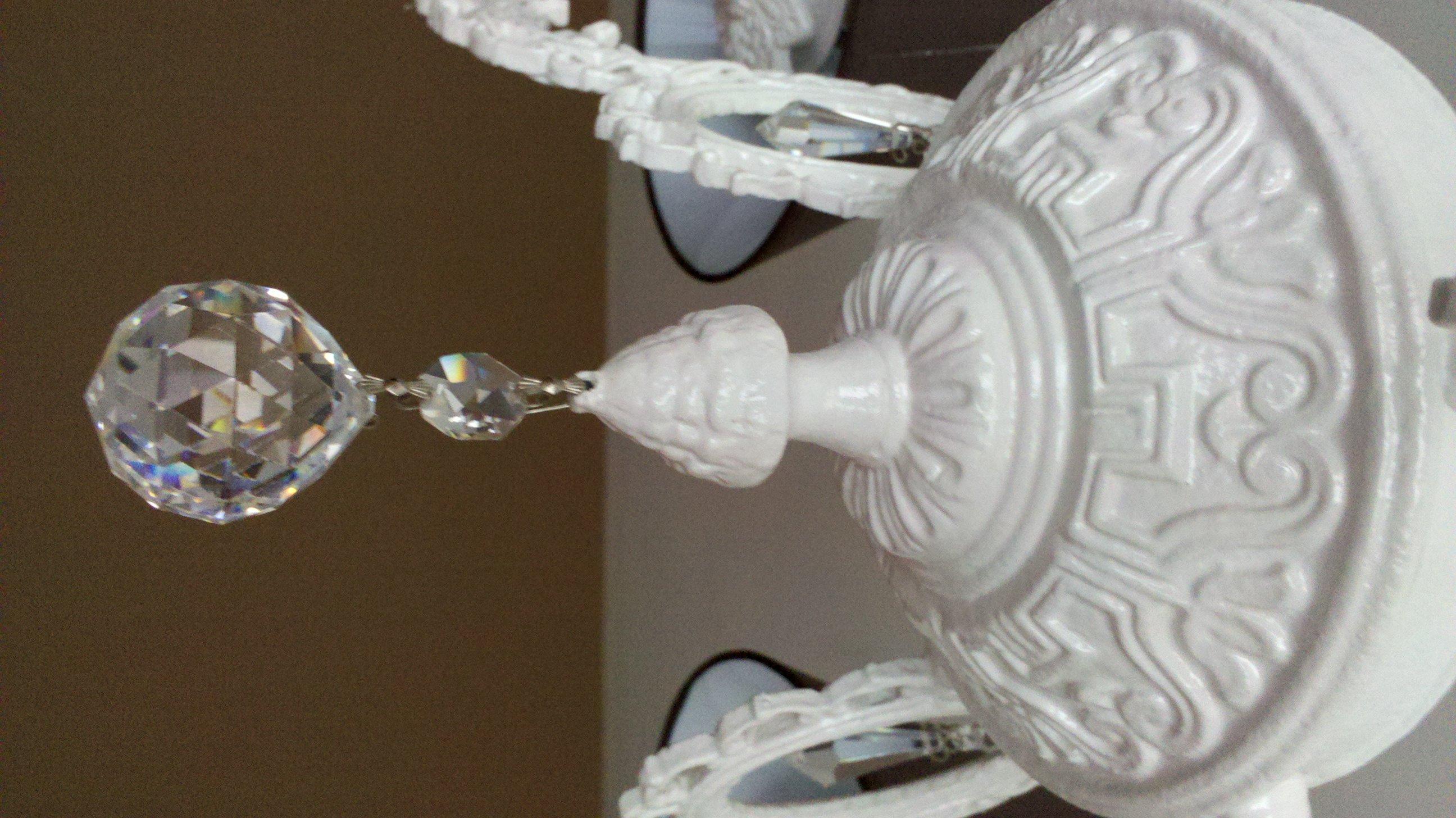 Como pintar una lampara de techo simple lmparas hechas - Pintar lamparas de techo ...
